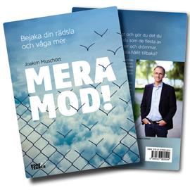 """Omslaget till """"Mera mod"""" av Joakim Muschött"""
